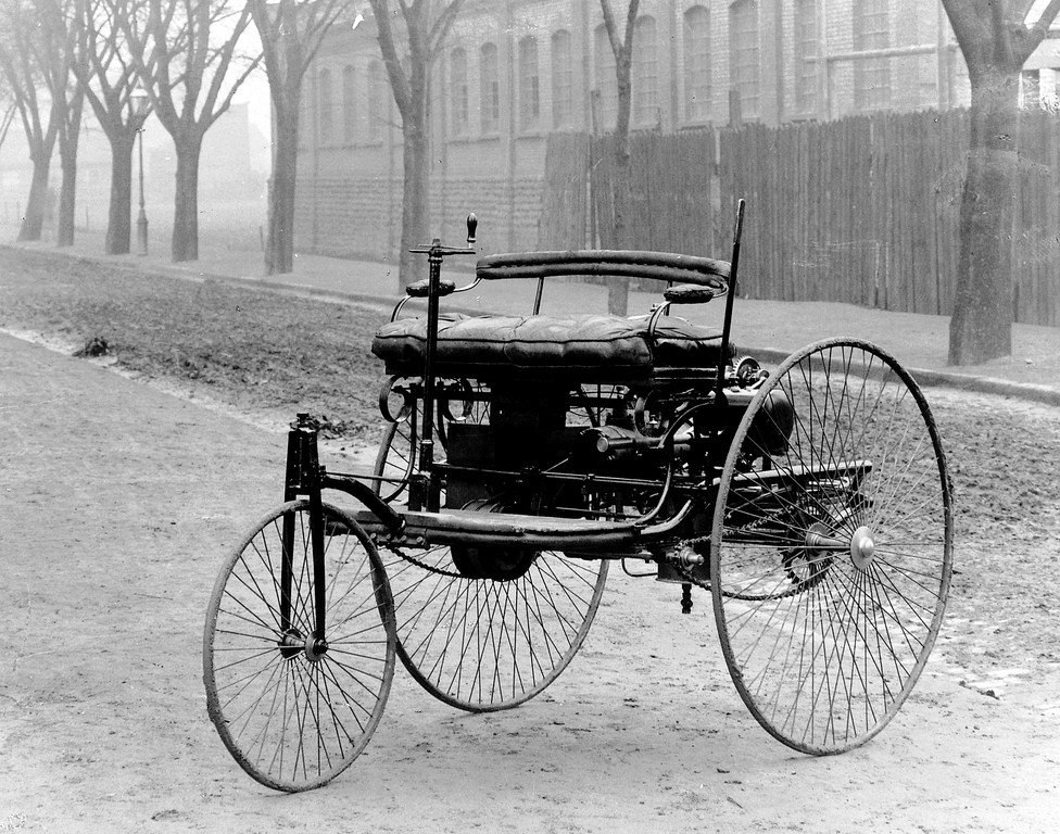 first car ever - three wheeled self propelled vehicle