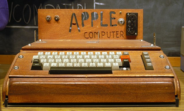 wooden computer with white keys