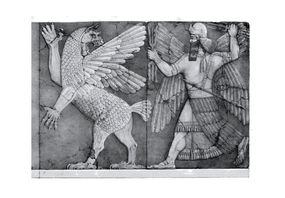 image showing chaos and sun god fighting