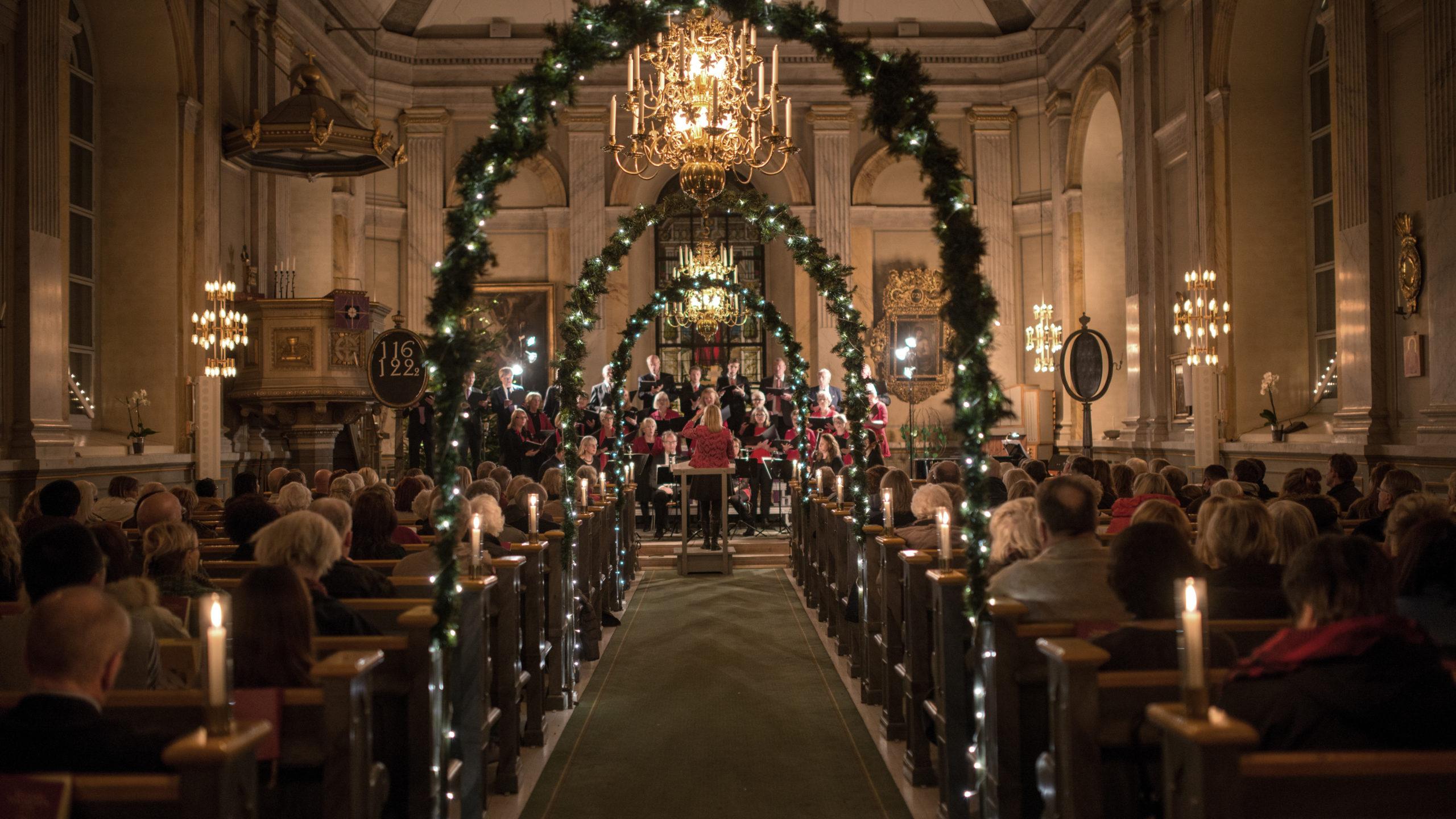 Christmas choir singing in church