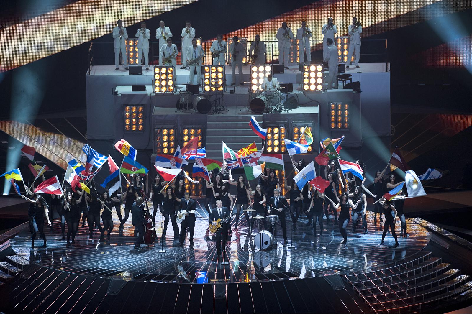 Opening Eurovision act in Düsseldorf in 2011